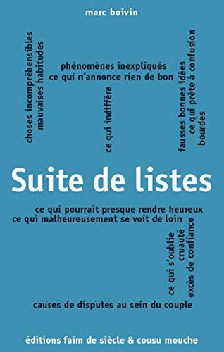 Suite de listes: Cycle des listes (French Edition)