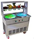TX® 35 cm * 35 cm (13.77' * 13.77') Ronda Eispfanne + 5 tanques Fried Ice Cream...
