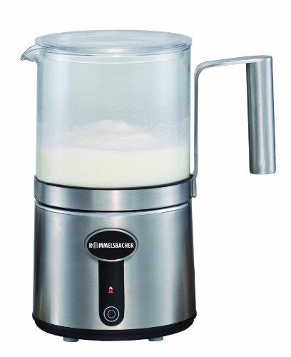 ROMMELSBACHER Milchaufschäumer MS 650 - 6 Funktionen, abnehmbare Glaskanne, elektrisch beheizt, Füllmenge bis 400 ml, automatische Abschaltung, Edelstahlgehäuse