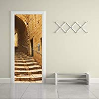3Dドアステッカー 石段の3D粘着ドア