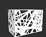 Nova italf - Cubreaire acondicionado para unidad externa de aluminio para fachadas (L96-P52-H82 cm), color blanco 9010