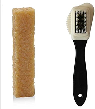 MagiDeal 3-Sides Cleaning Brush + Rubber Eraser For Suede Nubuck Shoes Boot Cleaner Cleaning Brush Kit