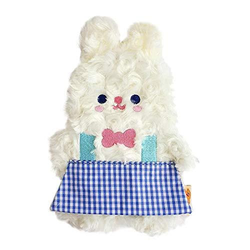 F Fityle Estuche de lápiz Lindo, Bolso de lápiz de Peluche de Dibujos Animados con Cremallera para Las niñas Organizador de papelería de la Escuela Bolsa - Conejo