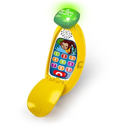 Telefone Bananinha Giggle & Ring, Bright Starts, amarelo/verde