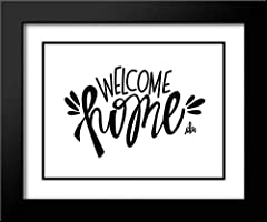 Artist: Barrett, Erin / Title: Welcome Home High Quality Framed Giclee Art Print Direct from Museum Prints Framed in a Black Modern Wood Frame with Double Matting by Crescent In Stock and Framed When Purchased Made in the U.S.A. and Satisfaction is G...