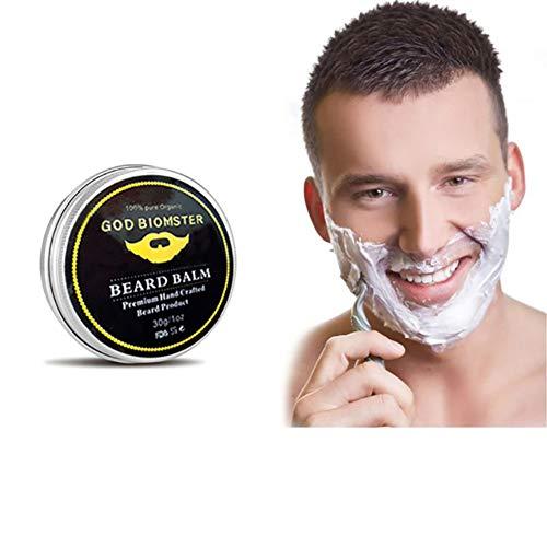 Weixinbuy Crema afeitar Suavizante bigote Barba Cera