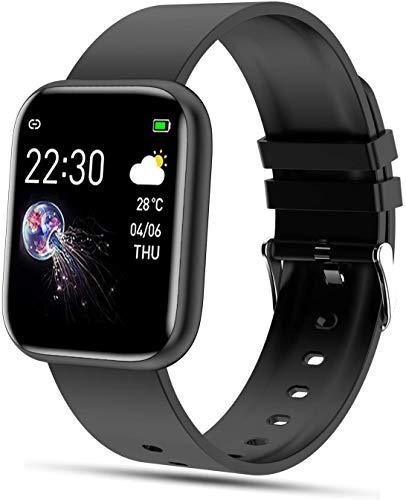 YSNJG Smart Watch, 1,4 Pulgadas Pantalla Táctil Fitness Trackers con Monitor De Ritmo Cardíaco, Pedómetro Reloj Seguimiento Actividad Impermeable Ip68,Negro