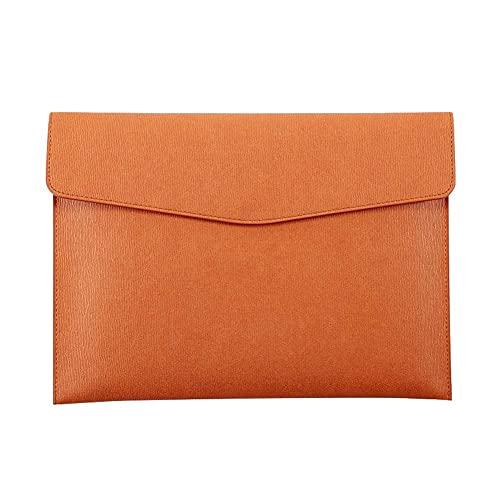 Portadocumenti portatile in ecopelle A4 con chiusura magnetica, portafoglio impermeabile con bottone magnetico, organizer per carta da borsa