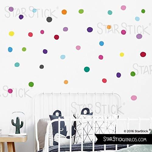 Confeti irregular de colores - Vinilo decorativo con topos - 40 Confetis