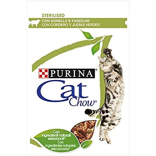 Purina Cat Chow Esterilizado con Cordero, 26 x 85 gr ⭐