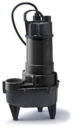ECO-FLO Products RSE50M Manual Cast Iron Sewage Pump, 1/2 HP, 7,800 GPH
