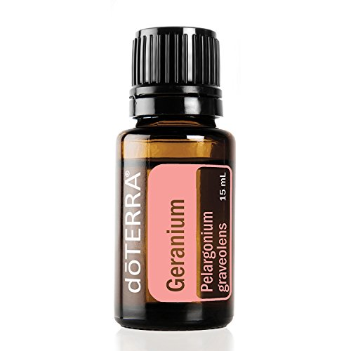 doTERRA Geranium Essential Oil - Promotes the Appearance of Clear, Healthy Skin, Naturally Repels Insects, Gives Hair a Vibrant, Healthy Glow; For Diffusion, Internal, or Topical Use - 15 ml