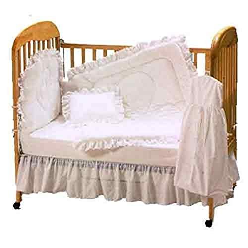 Baby Doll Bedding Carnation Eyelet Mini Crib/Port-a-Crib Set, White