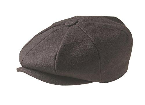 Gorra tipo Ascot de lana al 100%, marca Peaky Blinders Marrón marrón XL (61 cm)