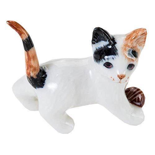 WitnyStore Kitten Cat Ceramic Miniature Figurine Cute Collectibles Animals Decor Tiny Gift