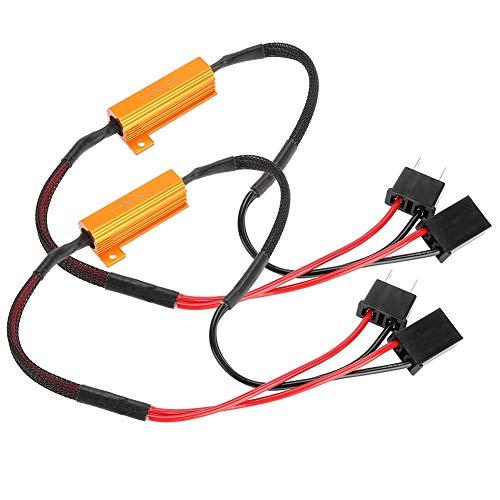 2Pcs Canbus Decoder Decodificador de faros LED H7 Código de error Cancelador de advertencia Anti Hyper Flash Sin error Adaptador de resistencia de carga