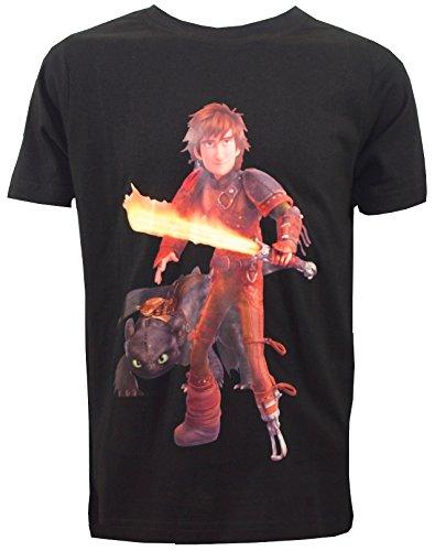 Dragons DreamWorks Kinder T-Shirt Toothless Ohnezahn Glow Schwert (128/134)