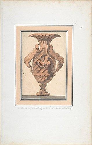 The Poster Corp Copy after Jacques François Joseph Saly – Design for Vase Kunstdruck (45,72 x 60,96 cm)