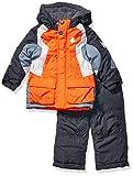 LONDON FOG Boys' Toddler 2-Piece Snow Pant & Jacket Snowsuit, Orange and Pants, 2T