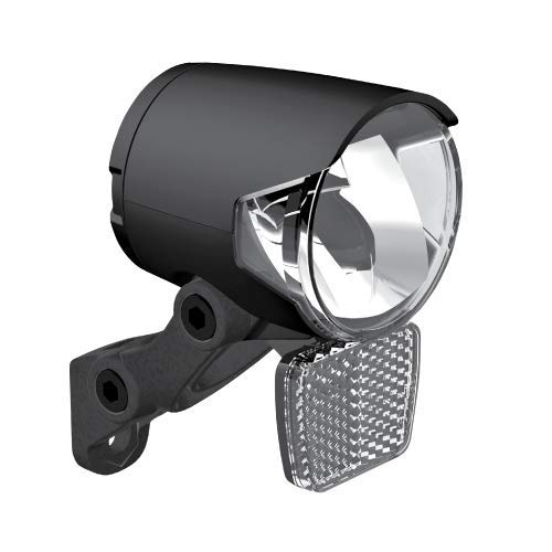 P4B | Schweinwerfer für Dynamo/Nabendynamo | 100 Lumen (ca. 40 Lux) | | Mit Spiegeltechnologie für eine hohe Lichtausbeute bis zu 100 Lumen