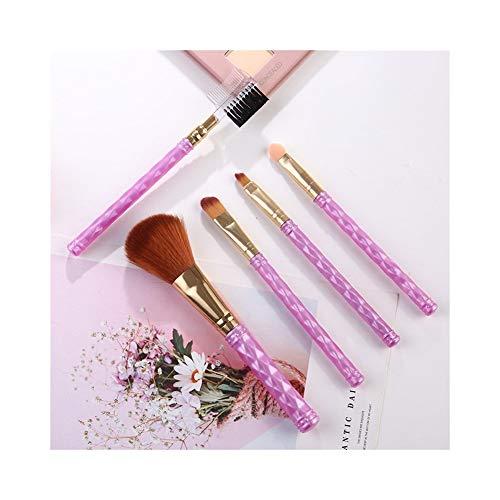 Sets de pinceaux de maquillage Pinceau de maquillage ensemble 5 pinceau de maquillage 5 pièce pinceau ombre à paupières pinceau à lèvres beauté outil de maquillage cadeau cadeau brosse de maquillage p