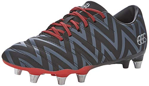 Canterbury of New Zealand Unisex-Erwachsene Phoenix 2.0 Soft Ground Rugbyschuhe, Schwarz (Black Adult Unisex), 49.5 EU