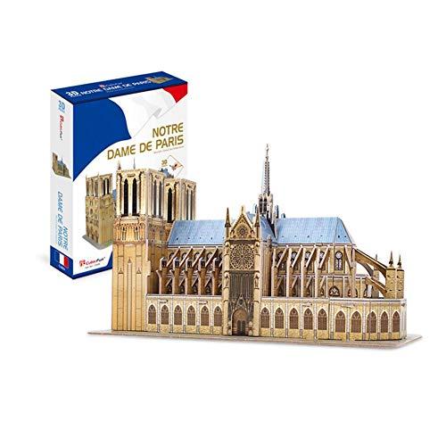 Sponsi Notre Dame de Paris France Maquettes de modèles d'architecture 3D Puzzle pour Adultes et Enfants