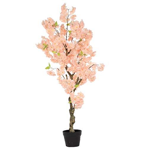YINGZI Árbol Artificial Árbol Artificial Cherry Pink Fake Sakura árbol para el Evento de Boda Decoración Moderna de la Oficina al Aire Libre de la Oficina de la Oficina Decoración hogareña