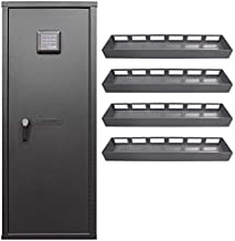 Secureit Agile 52 Gun Safe with (4) 6 Louver Storage Trays: Holds 6 Rifles and Includes CradleGrid Tech, A Heavy Duty Safe with Keypad Control, Stores Rifles, Shotguns and Pistols, Easy Assembly