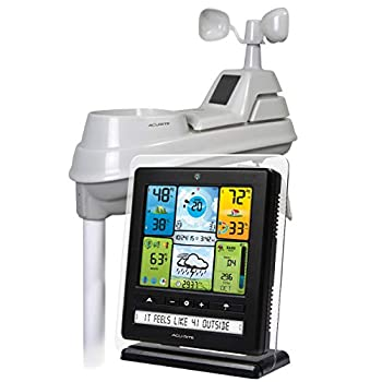 AcuRite 02064 5-in-1 Color Station with Weather Ticker and Future Forecast White Black