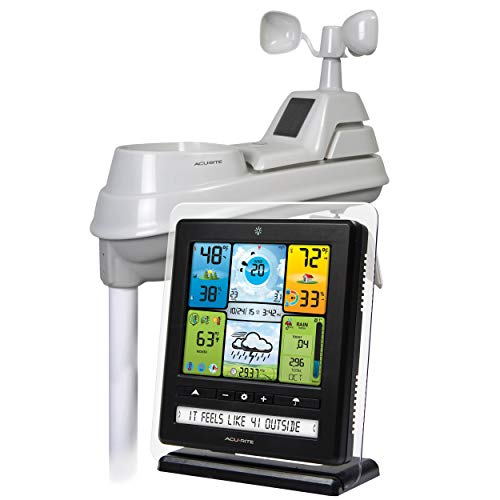 AcuRite 02064 5-in-1 Color Station with Weather Ticker and Future Forecast,...