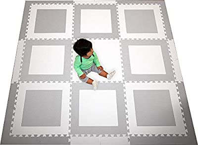 SoftTiles Squares Premium Interlocking Foam Large Children's Playmat 78†x 78â€