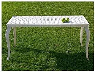 Forja Hispalense Mesa de Aluminio Kenia - Blanco, Mesa con Tapa de Cristal y Medidas de 180x90x75 cm. de Alto: Amazon.es: Hogar