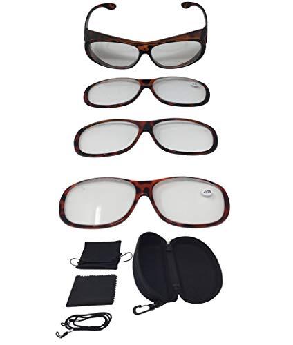 Vergr/ö/ßerungsbrille Lupenbrille Zauberbrille Lupe auf der Nase optische Vergr/ö/ßerung auf 200/% inkl Hardcase und Zubeh/ör Schwarz