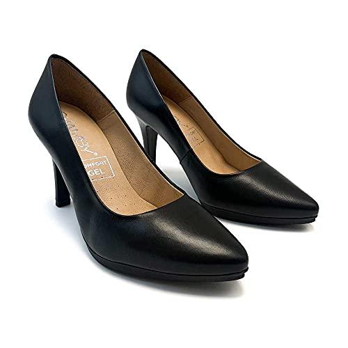 ¡¡Novedad!! Zapatisimos - Mujer Zapatos de tacón de Piel, Plantilla de Gel...