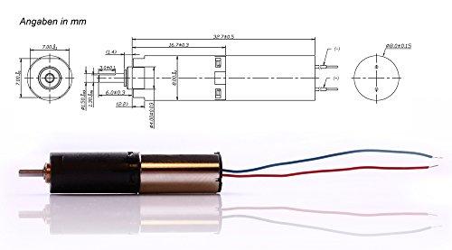 edi-tronic Mini DC Motor 4,5V 80mA 32 RPM klein Kleiner 4,5 V 80 mA Getriebemotor Modellbau Minimotor Miniatur