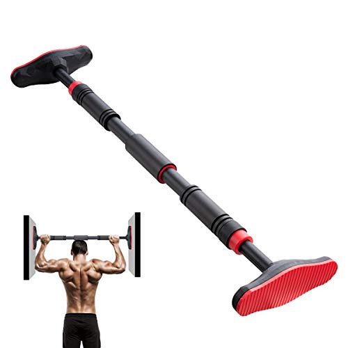 Locisne Barre traction 2 voies,barre traction pour porte-bagages porte,entraîneur haut du corps réglable barre pour entraîneur muscles corporels