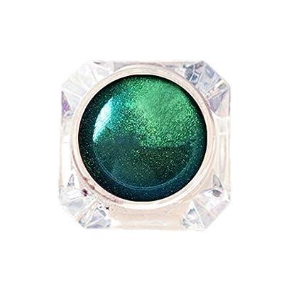 ZANFUN 4 Colors Single Color Baked Eyeshadow Palette Glitter Powder Long Lasting Metallic Baked Glitter Brightening Eyes