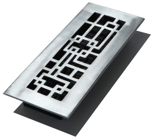Decor Grates 5,1cm da 30,5cm Abstract aluminum nickel Floor register, ABA310-NKL