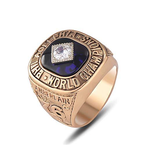 fangfaner Philadelphia 76ers Wilt Chamberlain NBA Championship Ring-Golden_Nummer 11