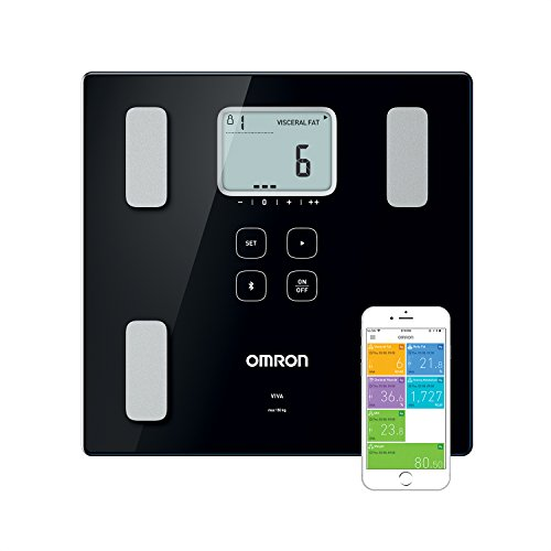 OMRON VIVA - Báscula inteligente y monitor de composición corporal con medición de peso, grasa corporal, grasa visceral, músculo esquelético, metabolismo basal e IMC
