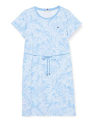 Preisvergleich Produktbild Tommy Hilfiger Damen Belle Regular C-nk Dress Ss Kleid,  Blau (Palm Floral Light Iris Blue),  X-Large