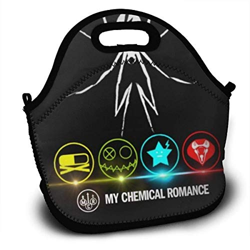 MaoMaoYongHui My Ch-emical Romance Personalized Lightweight Lunch Bag Handbag Pouch for Kids Zipper for School Tote