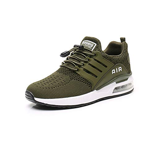 Sumateng Zapatillas de Deportes Hombre Mujer Aire Libre para Correr Calzado Sneakers Gimnasio Fitness Running Casual Green38