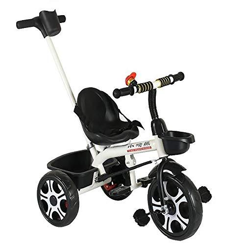 SSLC Trike voor 1 jaar oud, 2-in-1 duwen langs Trike met ouderhandvat en kinderen driewieler veilig ontwerp - leeftijden 15 maanden+