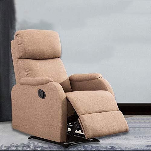 YQ&TL-YS Liegestuhl,Bettwäsche Elektro Sofa Multifunktions Wohnzimmer Schlafzimmer Faule Elektrisch Verstellbar Gang,dunkler Kaffee Farbe