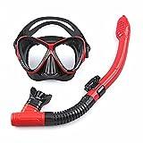 FJFW Máscara de buceo de snorkel, a prueba de fugas, gafas de buceo...