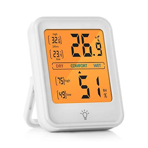 U Lifestyles Hygrometer Innen, Thermometer Hygrometer, Tragbare Hochpräzise Hygrometer Digital Innen Raumthermometer, Temperatur und Luftfeuchtigkeitsmesser für Babyraum, Wohnzimmer, Büro