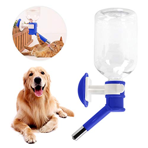 FakeFace Wasserspender Trinkflasche unterwegs Tierzubehör 500ML Wasser Flasche zum Aufhängen für Hunde Katze Welpen Kaninchen Haustier