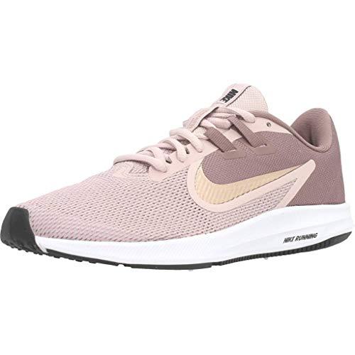 Nike Damen Downshifter 9 Laufschuhe, Violett (Smokey Mauve/MTLC Red Bronze-Blurosso 200), 36 EU